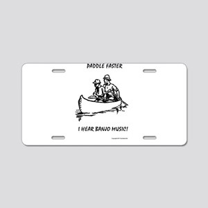 Paddle Faster Aluminum License Plate