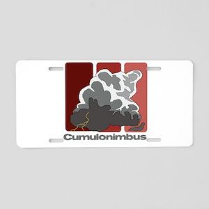 Cumulonimbus Aluminum License Plate
