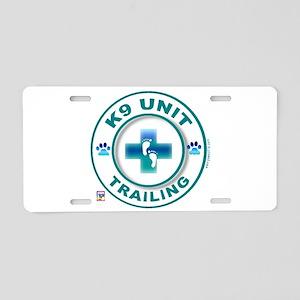 Trailing Circles Aluminum License Plate