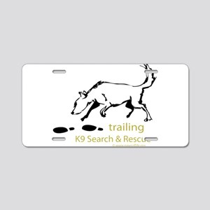 Trailing Sketches Aluminum License Plate