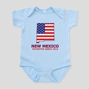 NM USA Flag Map 2 Infant Bodysuit