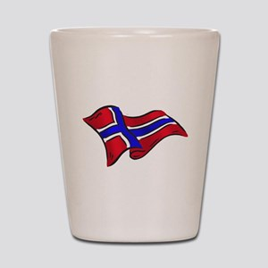 Flag of Norway Shot Glass