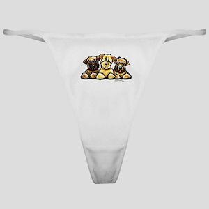 Wheaten Terrier Cartoon Classic Thong