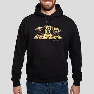 Wheaten Terrier Cartoon Hoodie (dark)
