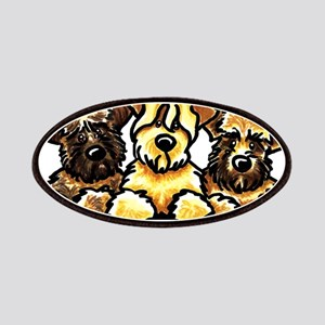 Wheaten Terrier Cartoon Patches