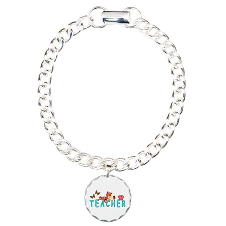 Teacher Reading Charm Bracelet, One Charm