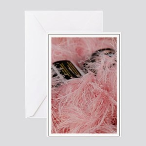 Fuzzy Pink Yarn Greeting Card