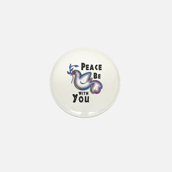 Peace Be With You Mini Button