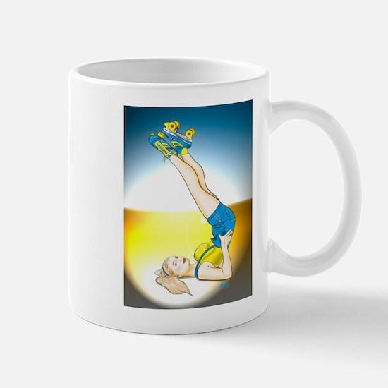 Roller Derby Girl Pin-up Mug