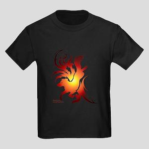 Tribal Art Border Collie Kids Dark T-Shirt