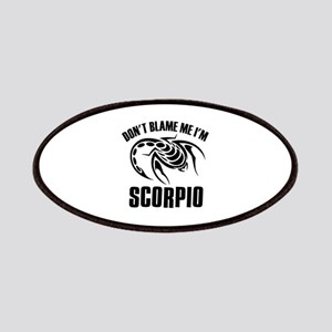Don't blame me I'm Scorpion Patches