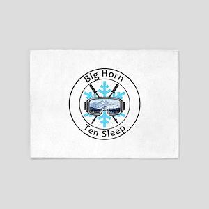 Big Horn - Ten Sleep - Wyoming 5'x7'Area Rug