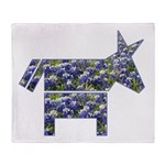 Texas Blue Donkey Throw Blanket
