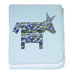 Texas Blue Donkey baby blanket
