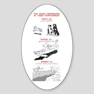 The 3 Components of Shiba Temperament Sticker (Ova