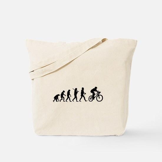 Evolution Cycling Funny Tote Bag