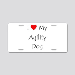 I Love My Agility Dog Aluminum License Plate