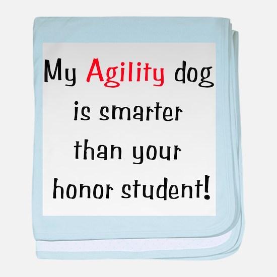 My Agility dog is smarter tha baby blanket