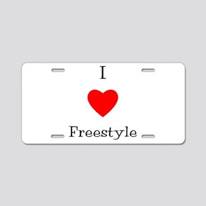 I love freestyle Aluminum License Plate