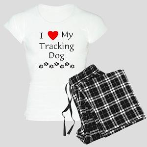 I Love My Tracking Dog Women's Light Pajamas