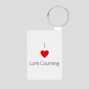 I love Lure Coursing Aluminum Photo Keychain