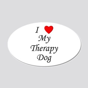 I Love My Therapy Dog 22x14 Oval Wall Peel