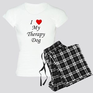 I Love My Therapy Dog Women's Light Pajamas