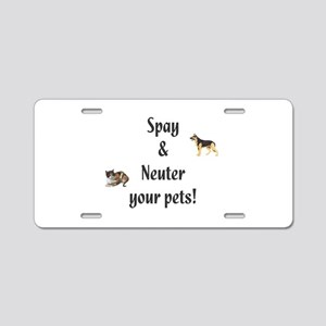 Spay and Neuter your pets (pi Aluminum License Pla