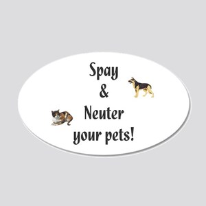 Spay and Neuter your pets (pi 22x14 Oval Wall Peel