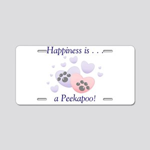Happiness is...a Peekapoo Aluminum License Plate