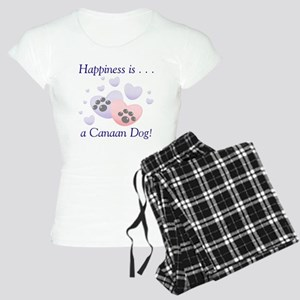 Happiness is...a Canaan Dog Women's Light Pajamas