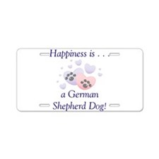 Happiness is...a German Sheph Aluminum License Pla