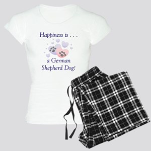 Happiness is...a German Sheph Women's Light Pajama
