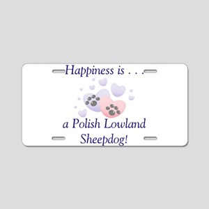 Happiness is...a Polish Lowla Aluminum License Pla