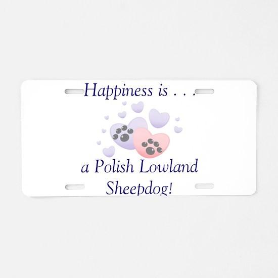 Happiness is...a Polish Lowla Aluminum License Pla