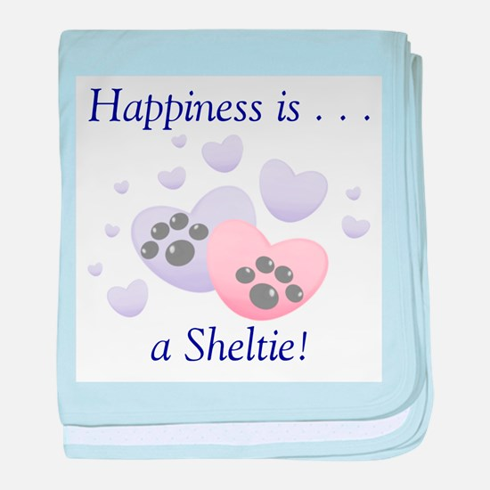 Happiness is...a Sheltie baby blanket