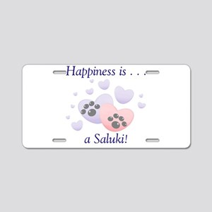 Happiness is...a Saluki Aluminum License Plate