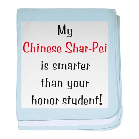 My Chinese Shar-Pei is smarte baby blanket
