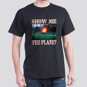 Show me the plane. Black T-Shirt