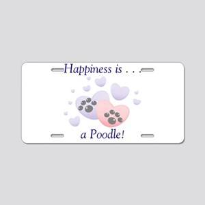 Happiness is...a Poodle Aluminum License Plate