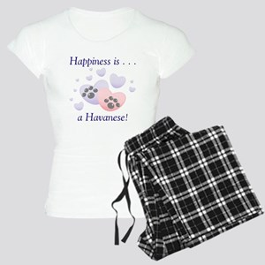 Happiness is...a Havanese Women's Light Pajamas