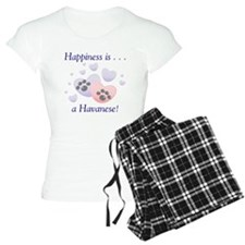 Happiness is...a Havanese Women's Light Pajamas