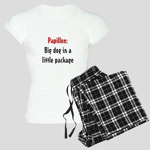 Papillon: Big dog in a little Women's Light Pajama