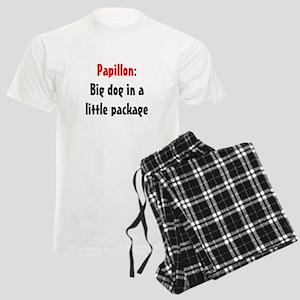 Papillon: Big dog in a little Men's Light Pajamas
