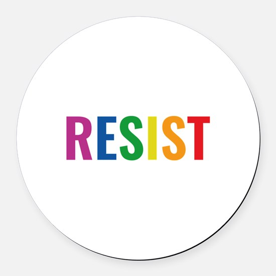 Glbt Resist Round Car Magnet