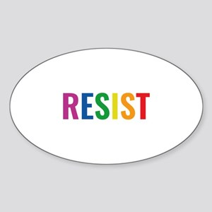 Glbt Resist Sticker (Oval)
