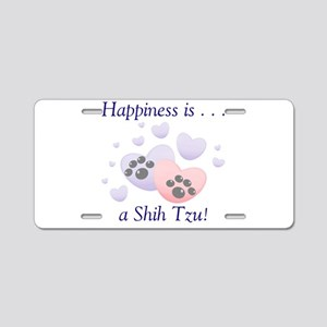 Happiness is...a Shih Tzu Aluminum License Plate