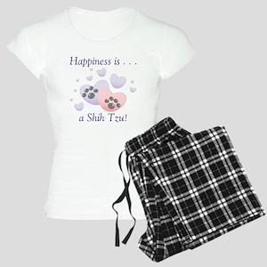 Happiness is...a Shih Tzu Women's Light Pajamas