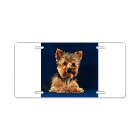 Yorkshire Terrier Puppy Aluminum License Plate