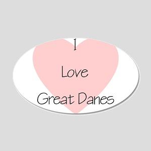I Love Great Danes 22x14 Oval Wall Peel